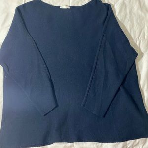 H&M Dark blue long thick sweater top